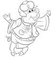 a children coloring bookpage a cartoon pig image vector image vector image
