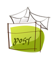A mail box is placed vector image vector image