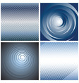 abstract backgrounds set vector image vector image