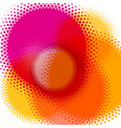 abstract colorful background halftone circles vector image