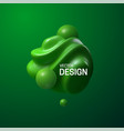 abstract composition with 3d spherical shapes vector image vector image