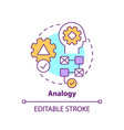 analogy concept icon vector image vector image