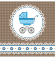 Baby boy shower vector image vector image