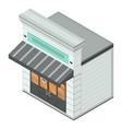 bakery street shop icon isometric style vector image