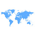 blue world map vector image vector image