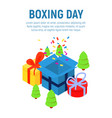 boxing day concept background isometric style vector image