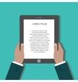 Businessman uses digital tablet pc vector image vector image