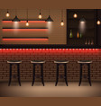 cafe interior realistic background vector image vector image