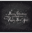 Christmas card with snowflakes on chalkboard vector image vector image