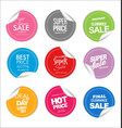 collection colorful modern badges and labels 6 vector image vector image