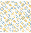 craft beer seamless pattern with thin line icons vector image vector image