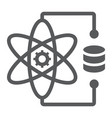 data science glyph icon data and analytics vector image vector image