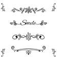decorative frame floral border text divider vector image