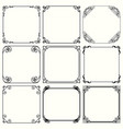 decorative frames set 48 vector image vector image