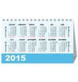 Desk calendar 2015 template vector image vector image