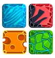 Different Materials and Textures for Game Gems vector image vector image