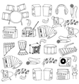 Doodle of music icons set vector image