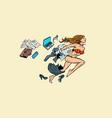 dream summer tourism businesswoman in swimsuit vector image