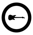 electric guitar black icon in circle vector image vector image