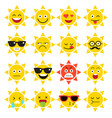 emojis sun sunlight vector image