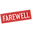 farewell sign or stamp vector image