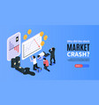 financial crisis isometric banner vector image vector image