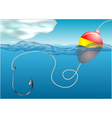 fishing float vector image