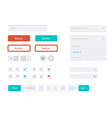 flat user interface set for website vector image