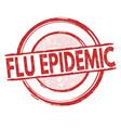 flu epidemic sign or stamp vector image