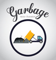 Garbage design over white background vector image