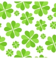 Green Clover Leaves Seamless Pattern Background vector image
