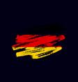 grunge textured german flag vector image