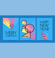 happy new 2021 year elegant poster template with vector image vector image