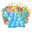 Happy New Year Title Design vector image vector image