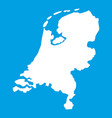 holland map icon white vector image vector image