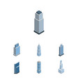 isometric construction set of exterior vector image vector image