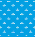 kid hat pattern seamless blue vector image vector image