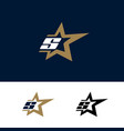 letter s logo template with star design element vector image vector image