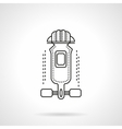 Longboard outfit flat line icon vector image vector image