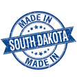 Made in South Dakota blue round vintage stamp
