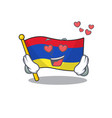 Mascot flag armenia with in in love character