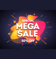 mega liquid shopping day sale banner background vector image vector image