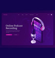 online podcast recording banner vector image