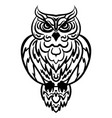 owl tribal pattern vector image vector image
