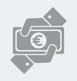 payment in euro vector image