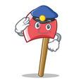police axe character cartoon style vector image