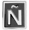 Polka Dot Font LETTER vector image vector image