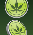 pot leaf icon vector image vector image