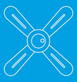 propeller icon outline style vector image vector image