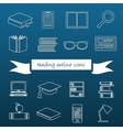 reading outline icons vector image vector image